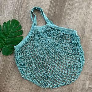 Handbags - OCEAN BLUE FARMERS MARKET NET TOTE BAG